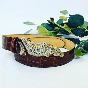 Vintage 90s 🐊 crocodile Brighton belt